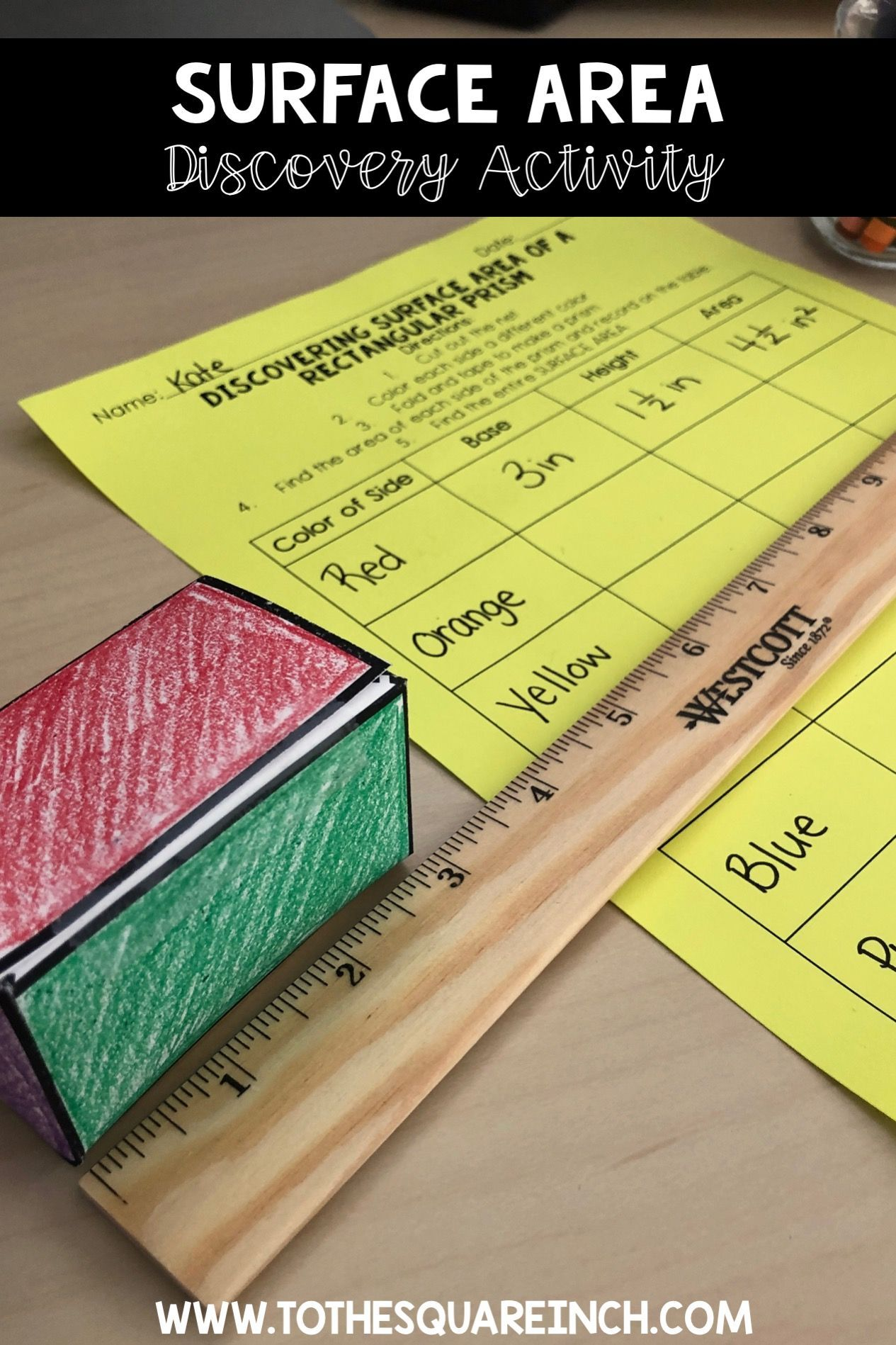 Surface Area Of Prisms And Pyramids Interactive Notebook