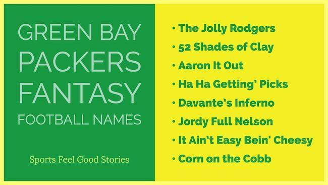Packer Fantasy Football Names Green Bay Aaron Rodgers Football Names Fantasy Football Names Football Team Names