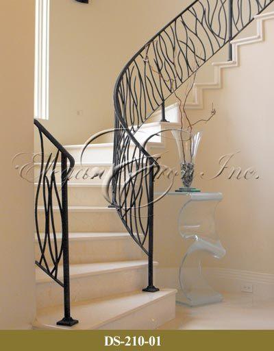 Custom Contemporary Wrought Iron Railings   Stair railings ...