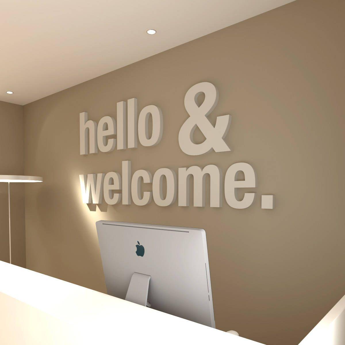 Décoration Murale Bureau Entreprise hello & welcome, bureau, deco bureau, décoration de bureau