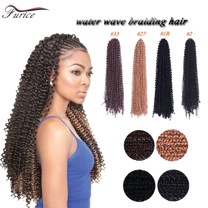 Water Wave Free Tress Curly Crochet Hair Extensions 90gpcs 18inch