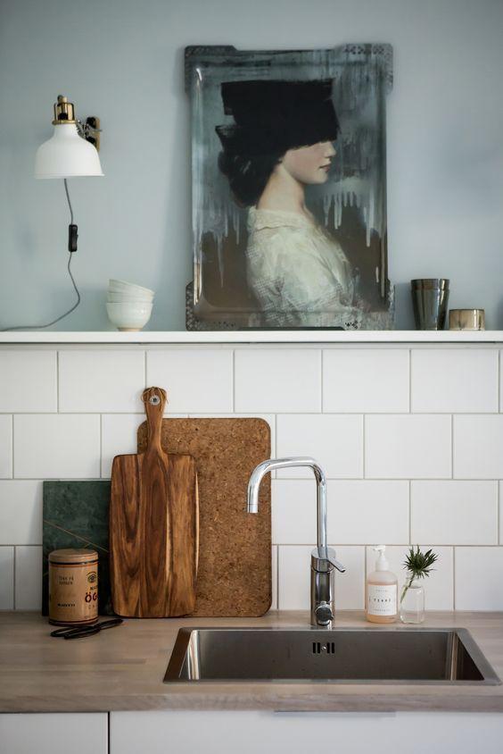Photo of L'arte in cucina è sempre una buona idea | Köksdesign, Kök retro, Köksstil