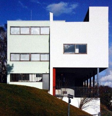 Casas en la weissenhofsiedlung le corbusier mies van der for Villas weissenhofsiedlung