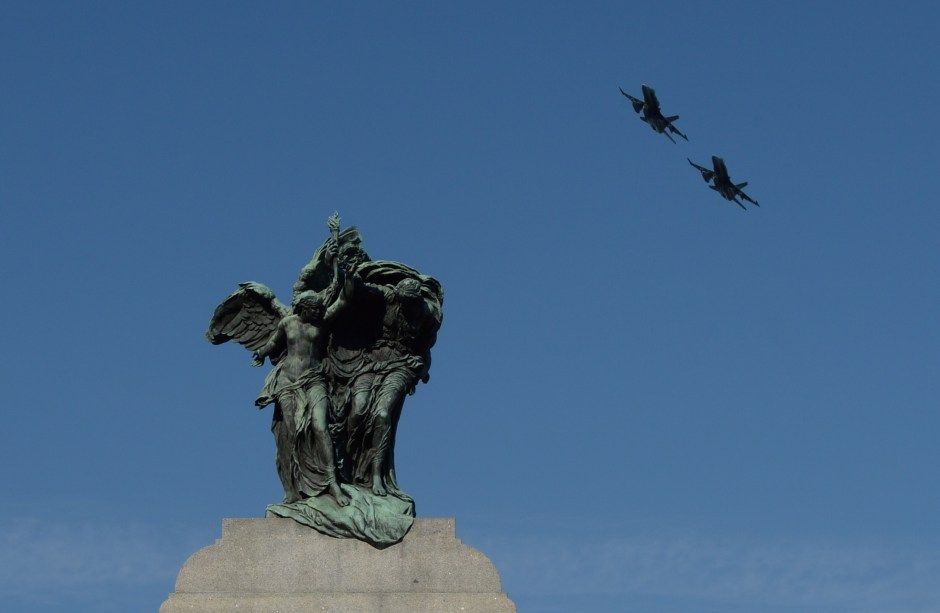 Remembrance Day Ottawa Nov 11, 2014   the war memorial fly by...   Proud to be Canadian !