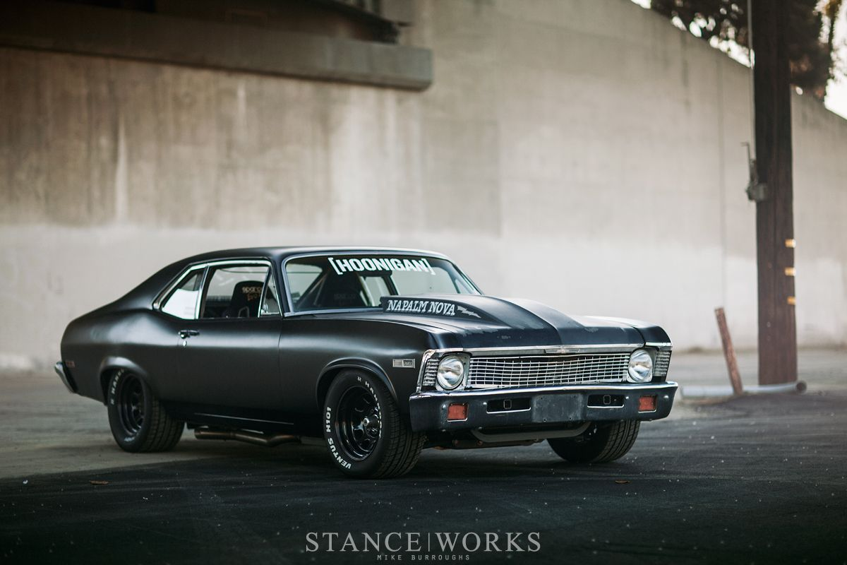 All Chevy all chevy muscle cars : Napalm-Nova-brian-scotto-flat-black-hot-rod-burnout   Chevrolet ...