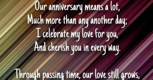 Short Anniversary Poems for Husband - Hug2Love