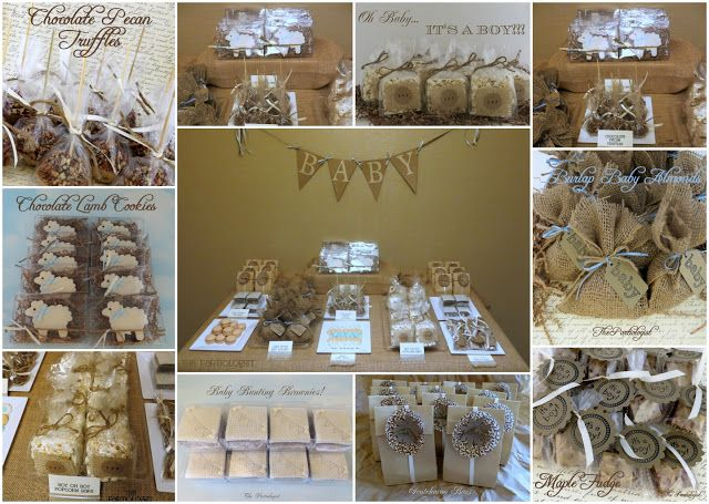 Great Burlap Baby Shower