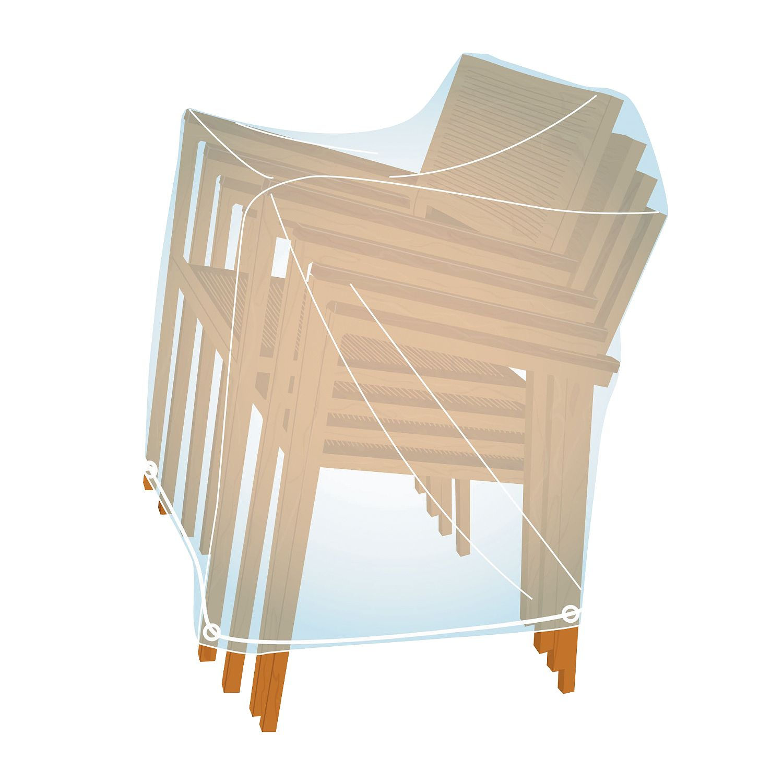 AKI Bricolaje, jardinería y decoración.  Funda cubre sillas apiladas X4  Funda cubre sillas. Protege las sillas del polvo y las mantiene limpias.