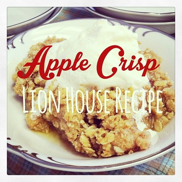 Apple crisp recipe from the lion house classics cookbook deseret apple crisp recipe from the lion house classics cookbook deseret book has these in utah forumfinder Gallery