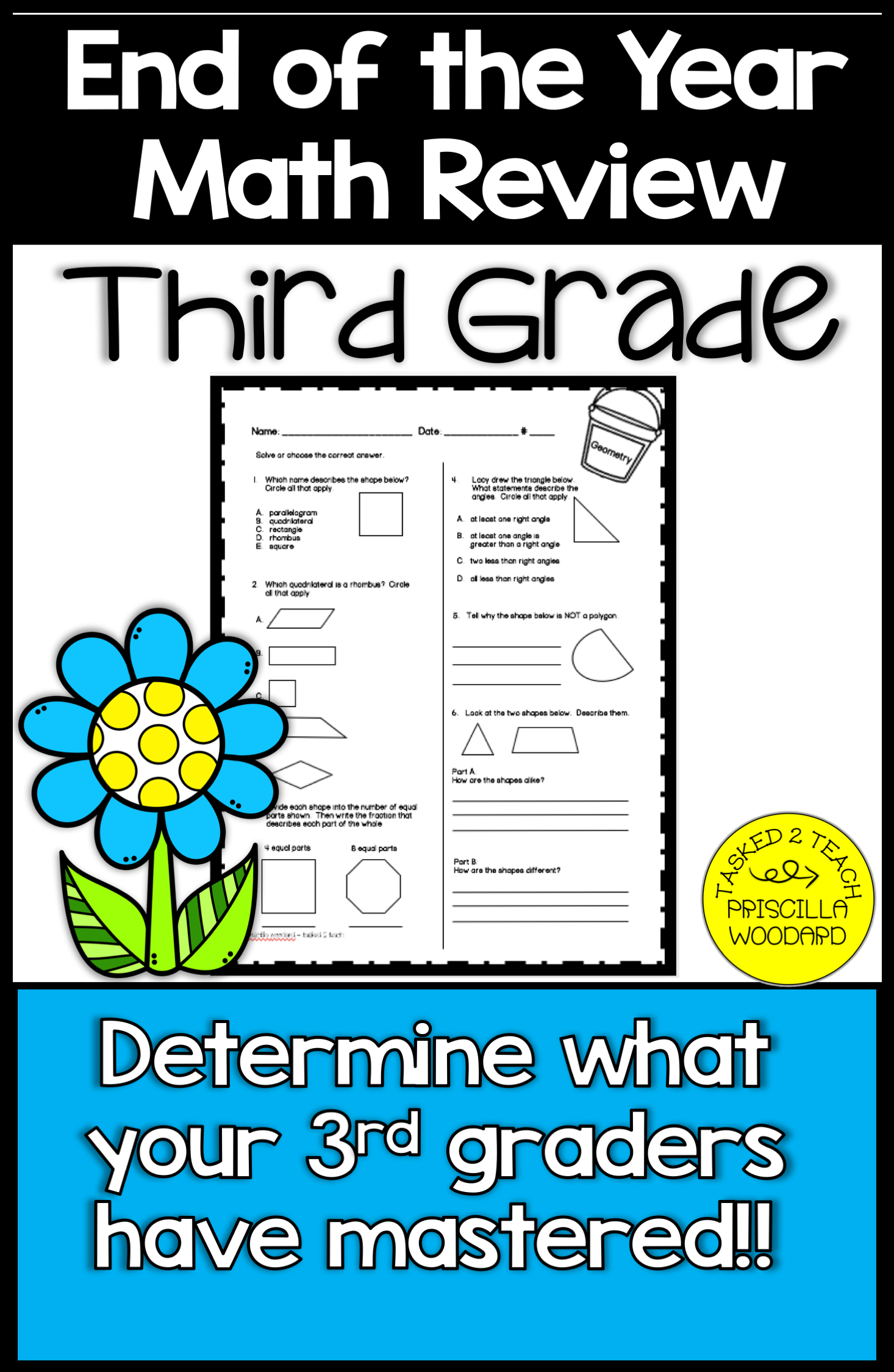 3rd Grade End of Year Math Review   3rd grade math [ 2249 x 1466 Pixel ]