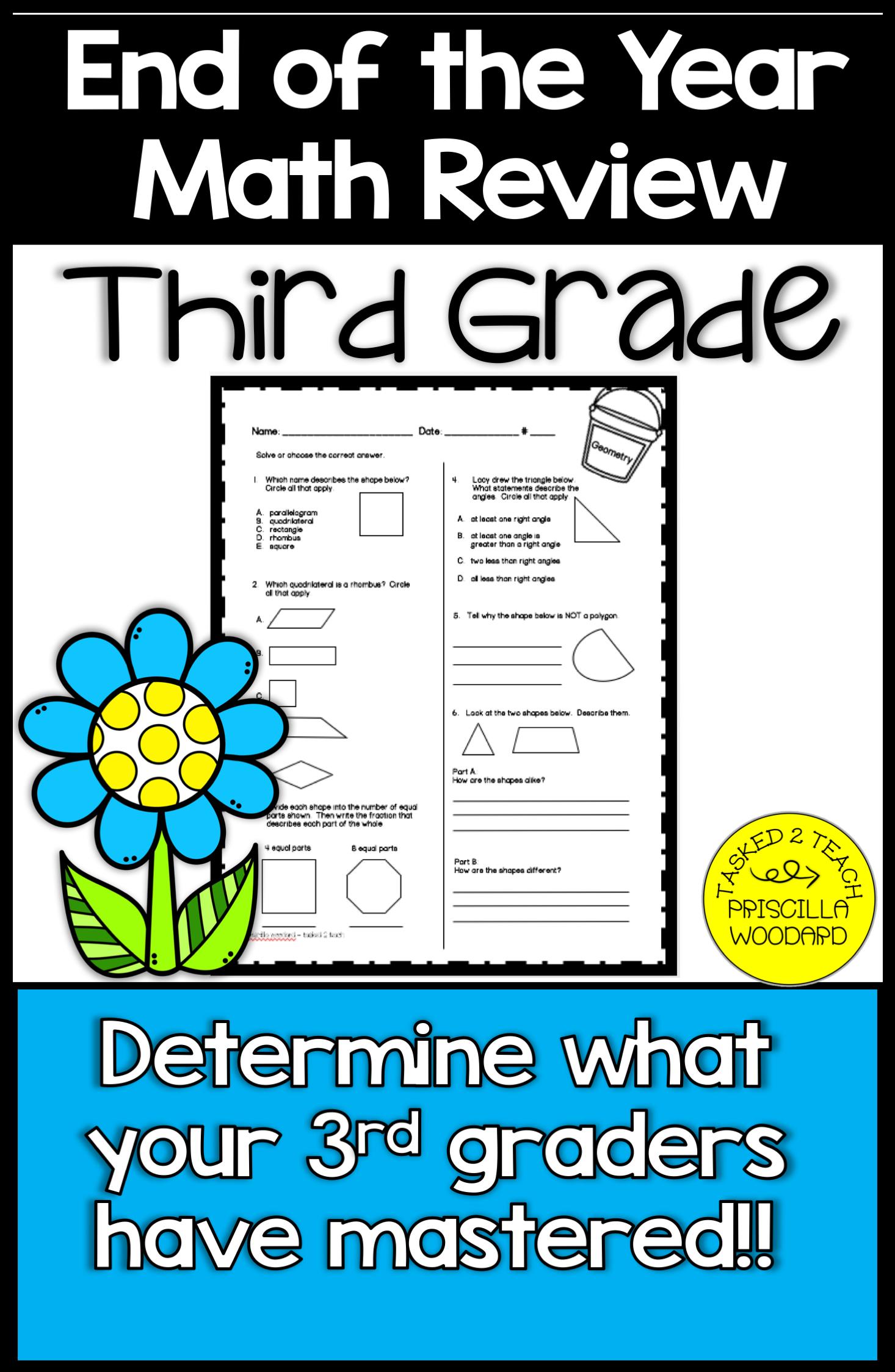 hight resolution of 3rd Grade End of Year Math Review   3rd grade math