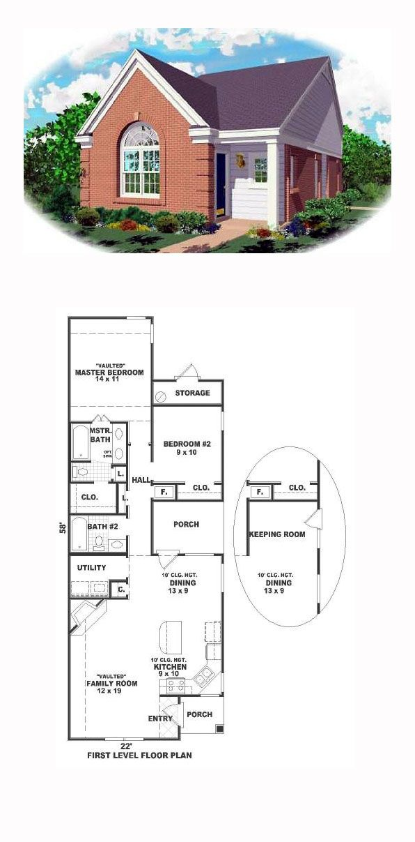Ranch Style House Plan Number 46340 with 2 Bed, 2 Bath ... on 2 bedroom luxury home plans, 2 bedroom starter home plans, 2 bedroom vacation home plans, luxury craftsman house plans, 2 bedroom craftsman home plans, one story narrow house plans,