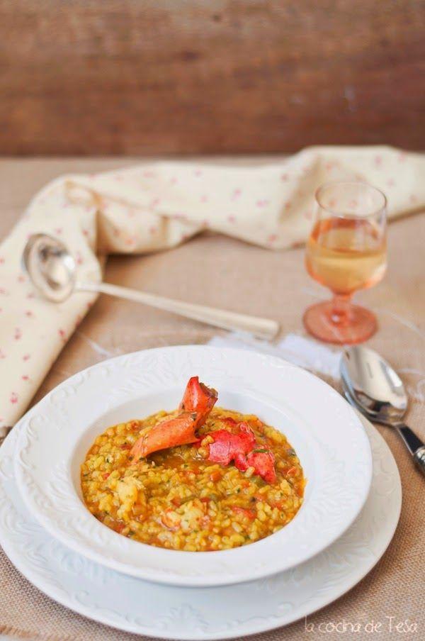 La Cocina De Tesa Arroz Meloso Con Bogavante Y Gambones Arroz Meloso Recetas De Comida Comida