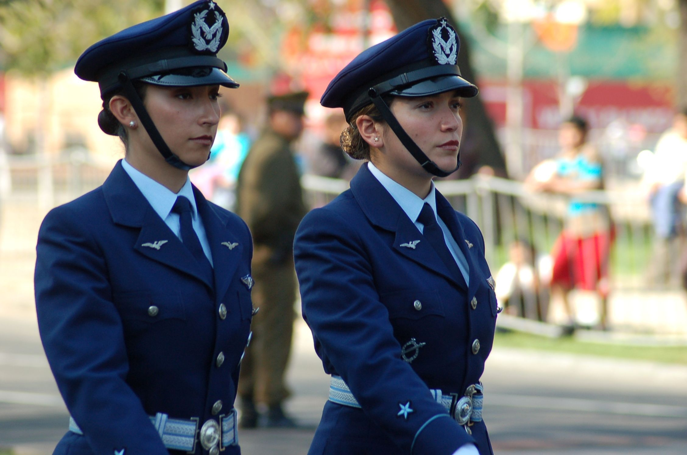 Chilean Air Force Members Image Females In Uniform Lovers Group Female Soldier Military Women Female [ 1496 x 2256 Pixel ]