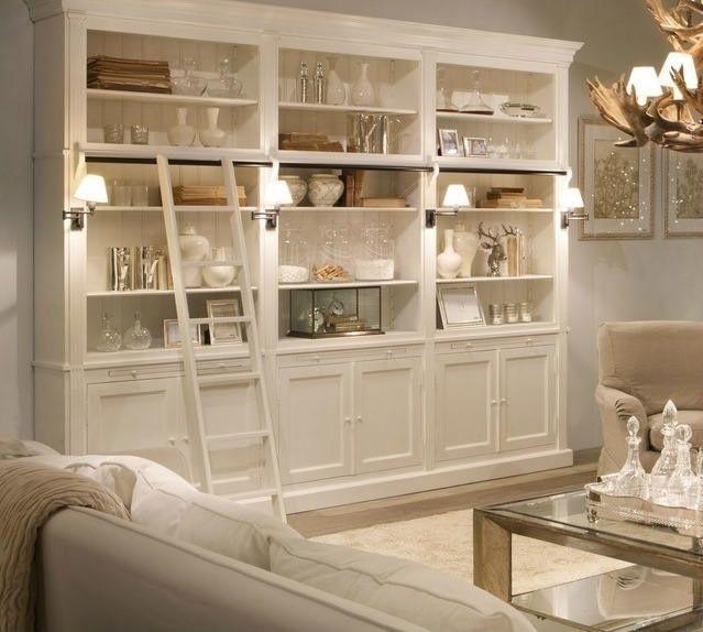 Libreria de madera pintada en blanco manualidades - Librerias salon blancas ...