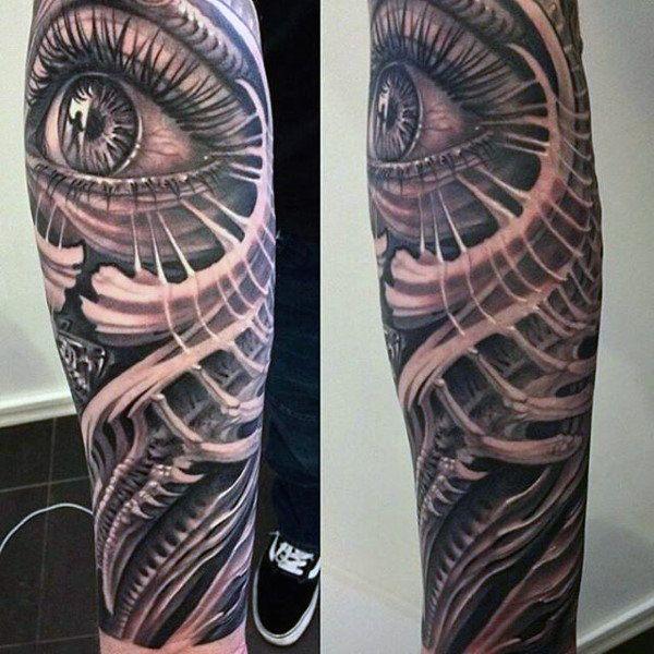 Half Sleeve All Seeing Eye Forearm Sleeve Male Tattoo | Tattoo\'s ...