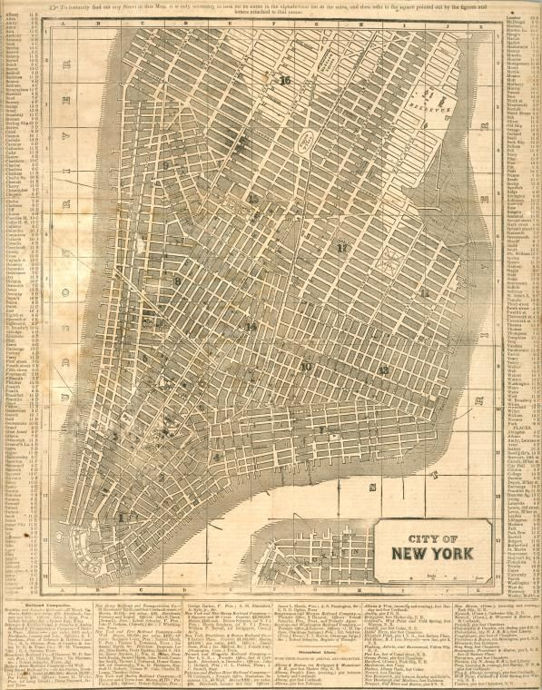 Map Of New York 1850.Old New York Lay Of The Land New York City Map