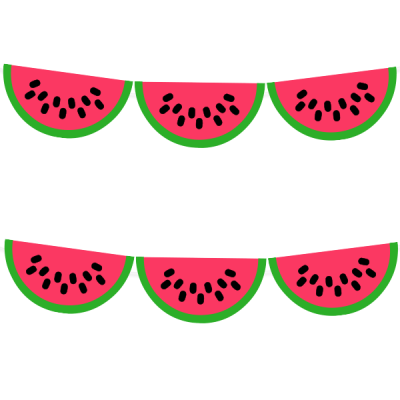 image about Watermelon Printable referred to as Cost-free Watermelon Printable Celebration Garland versus