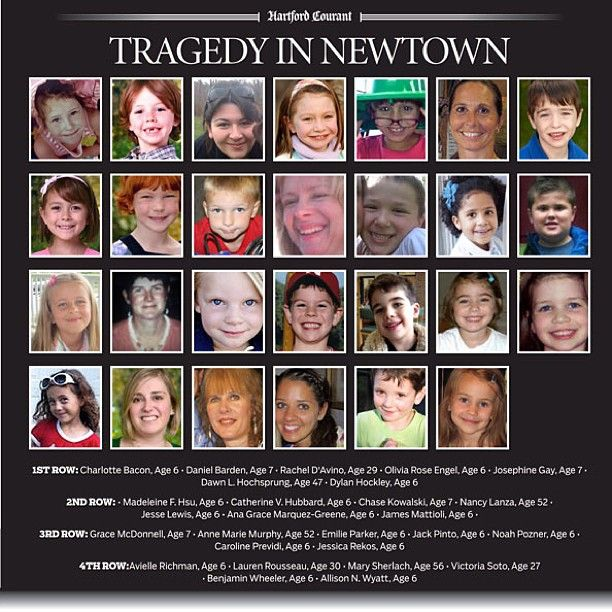 Tragedy In Newtown Mass Shooting Victims
