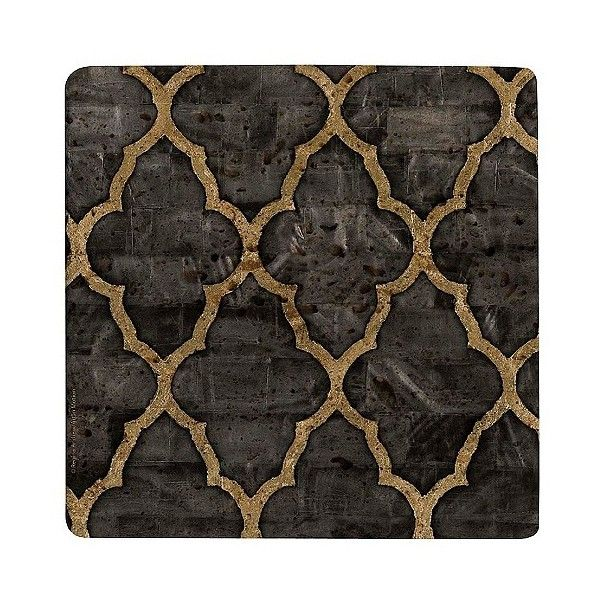Thirstystone Ebony Travertine Trivet, Grey/Tan (14 CAD) ❤ liked on Polyvore featuring home, kitchen & dining, kitchen gadgets & tools, holders and dispensers, kitchen, kitchen organization, kitchen storage racks, trivet, storage rack and thirstystone