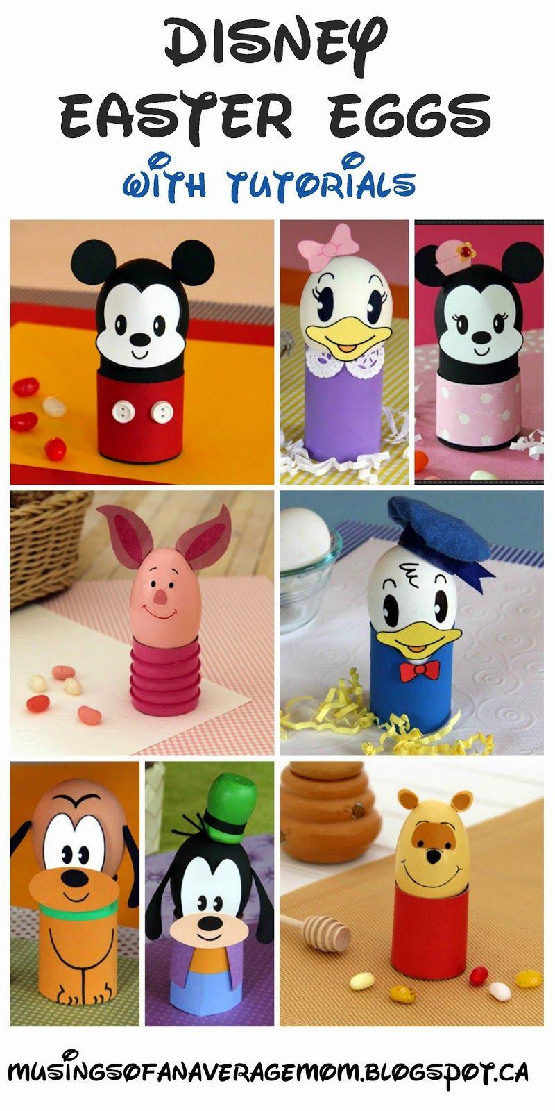 Disney Easter Egg Decorating Round Up Okul öncesi Etkinlik