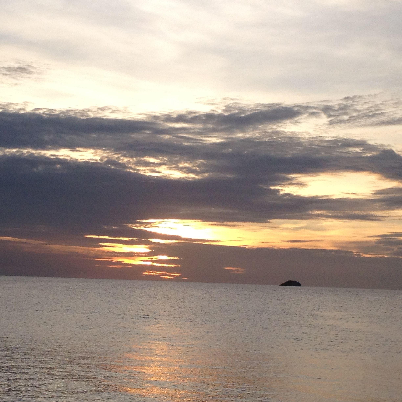 Atardecer en playa zaragoza venezuela Isla de Margarita