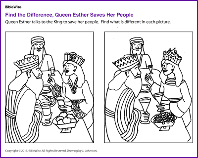 Find the Difference (Queen Esther)- Kids Korner - BibleWise ...