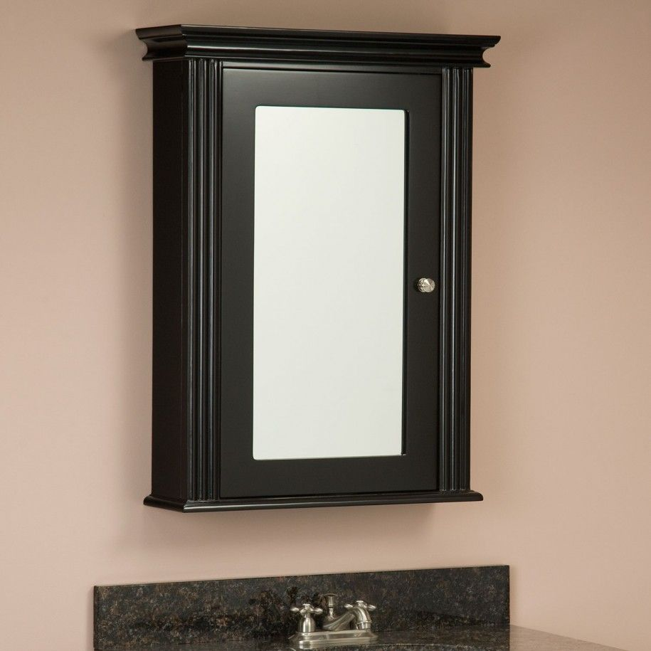 Charmant Milforde Collection Medicine Cabinet With Mirror   Black