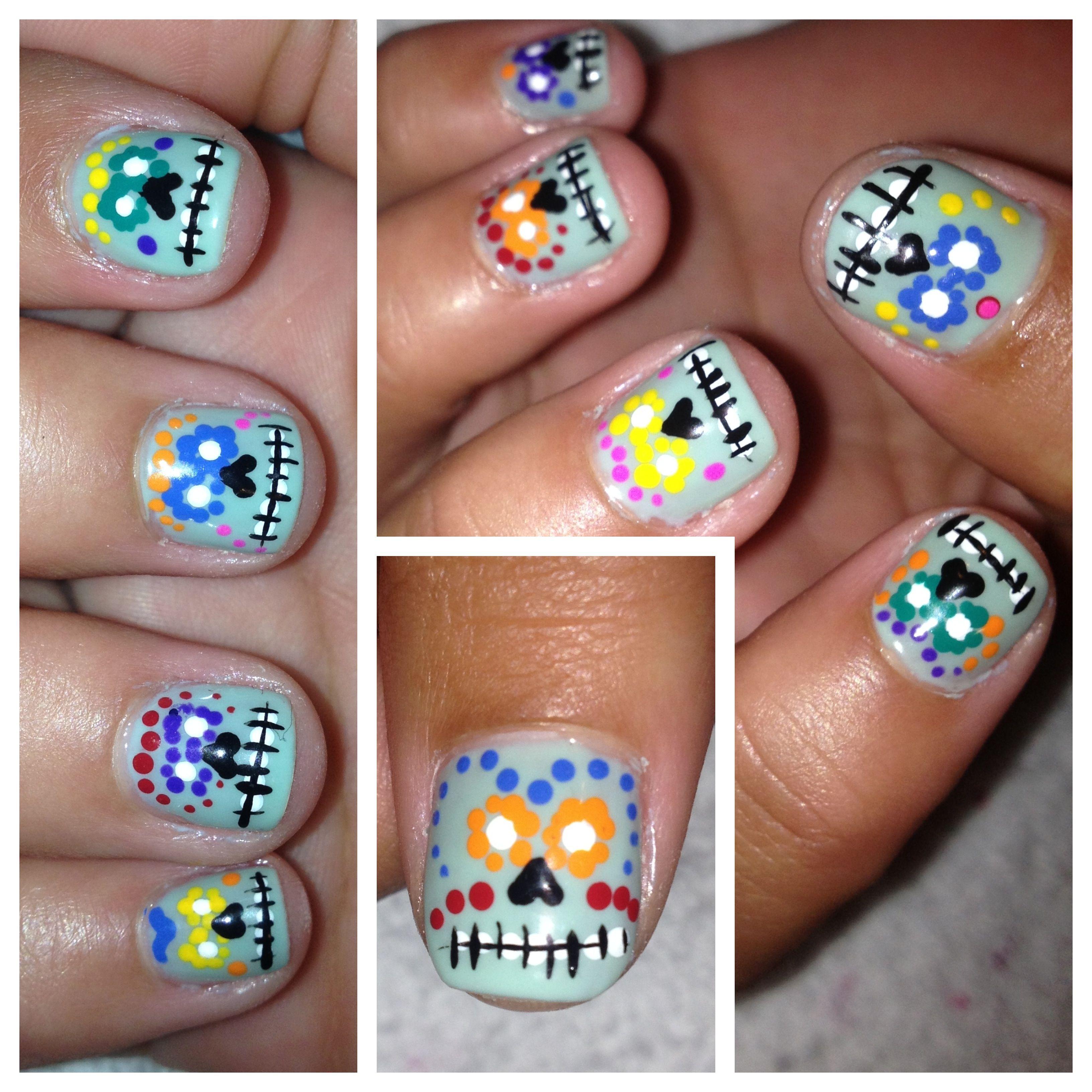 Day of the dead | #nails nails nails #nailart | Pinterest | Nail nail