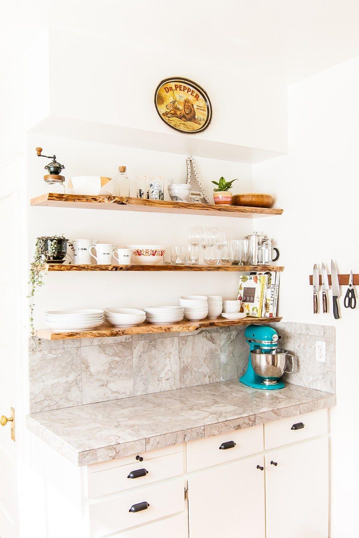 Kitchen Floating LiveEdge Shelves Floating shelves diy