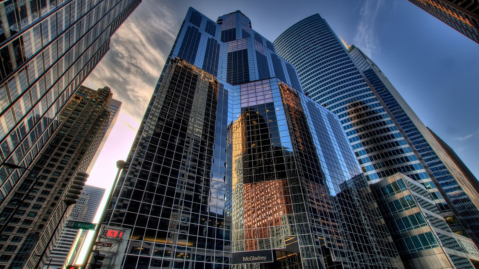 HD Wall Paper 1920X1080 Chicago chicago city reflection