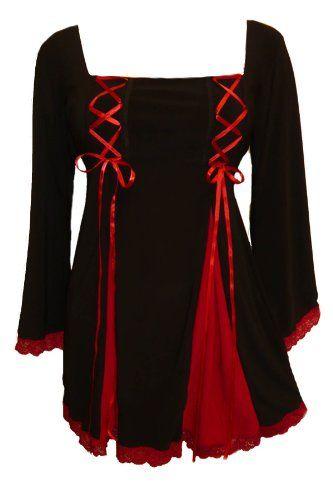 Dare To Wear Victorian Gothic Women's Plus Size Gemini Princess Corset Top: Amazon.com: Clothing
