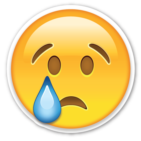 Crying Face | Emoji stickers, Emojis and Emoji Sad Emoji