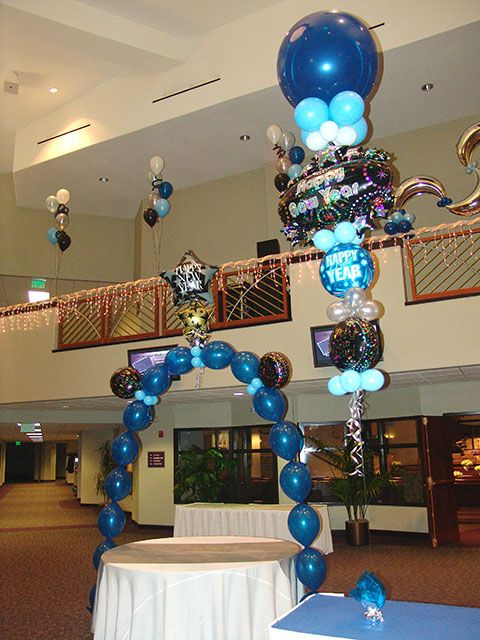 New Years Balloon decorations in Denver | Balloon ...