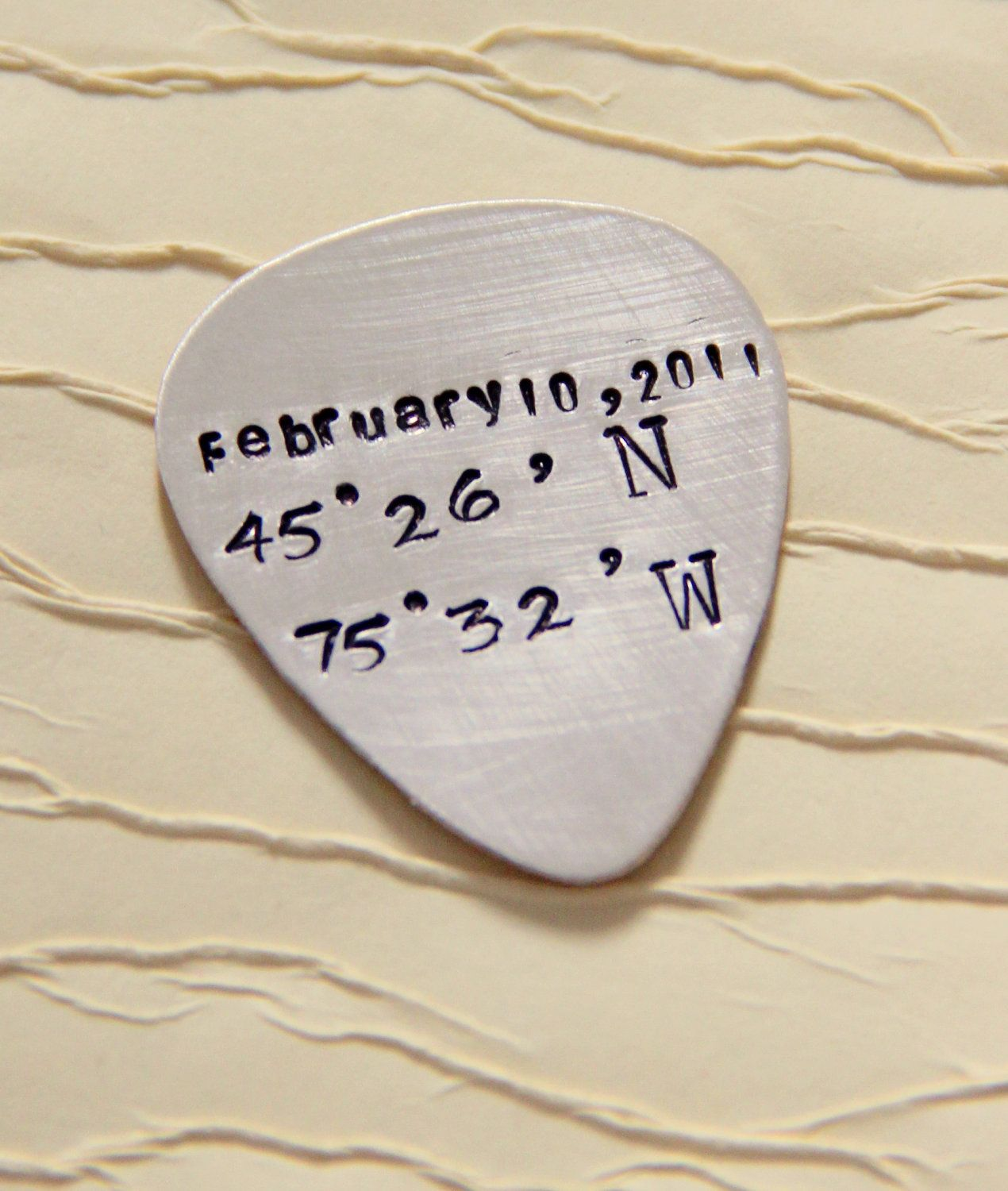 Latitude Guitar Pick - Personalized Guitar Pick- Guitar Pick ...