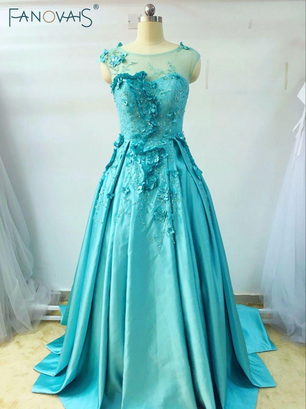 Custom-Made Short Sleeve Evening Dress Floor Length Elegant Long ...