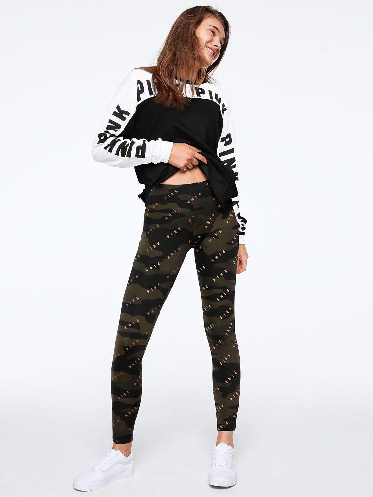 763e6dd5f4869a PINK Bling Cotton High Waist Camo Legging | Products | Camo leggings ...