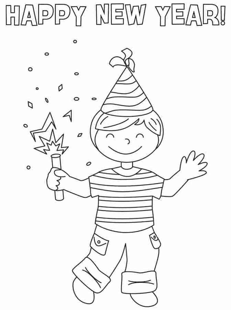 Boy Happy New Year Coloring Pages New Year Coloring Pages Coloring Pages For Boys New Year Printables