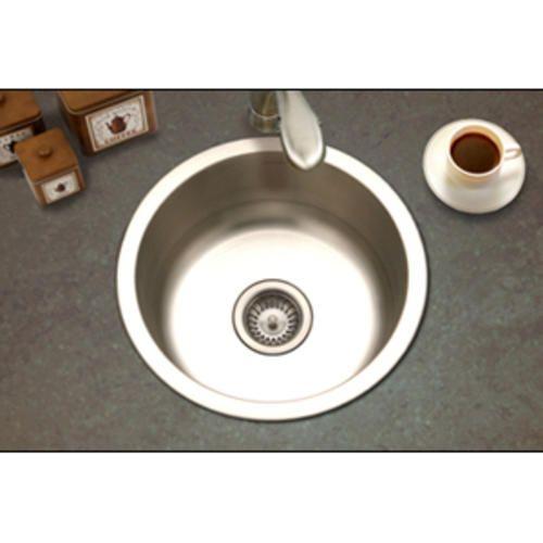"Club Topmount Round Bar Sink 7""deep 18Ga Satin At Menards Prep Prepossessing Menards Kitchen Sinks Inspiration Design"