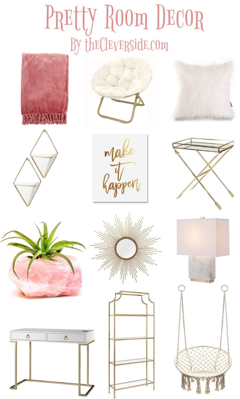 12 Pretty Room Decor Items Pretty Room Pink Room Decor Diy