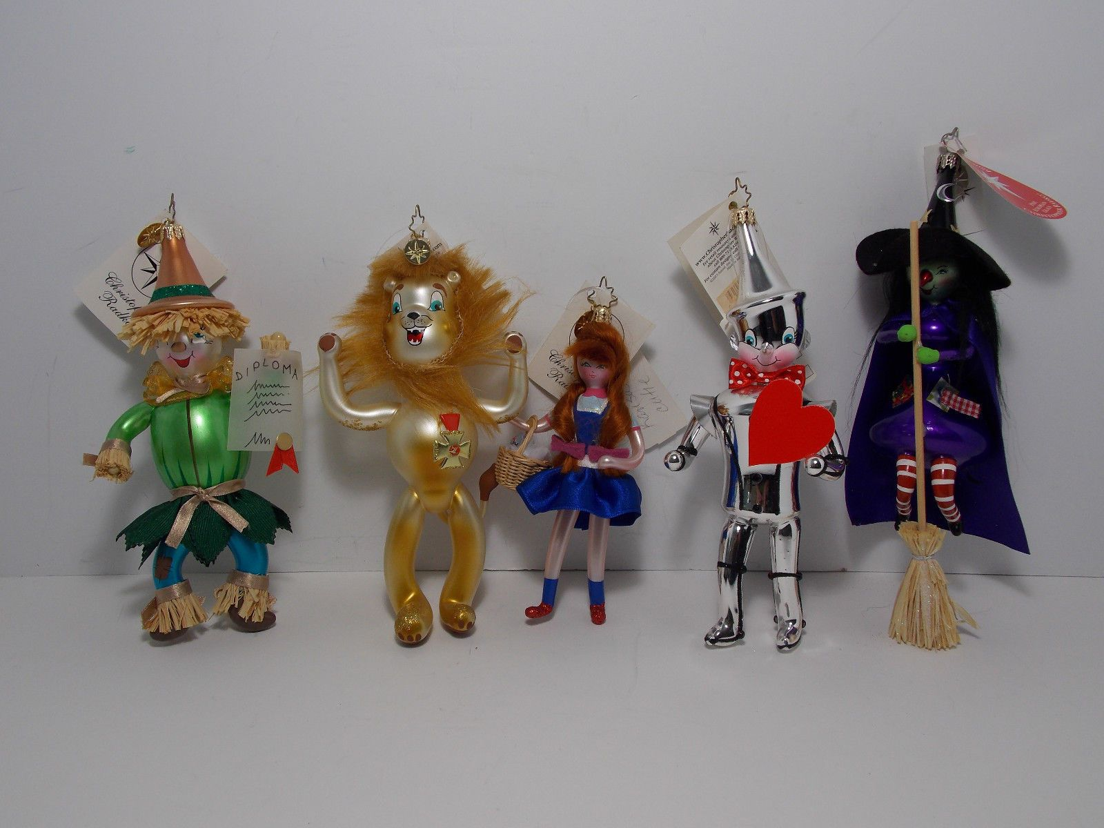 Christopher Radko Wizard Of Oz Blown Glass Ornament Set Of