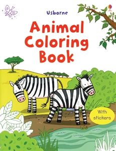5 99 Usborne Books More Animal Coloring Book With Stickers For Age 4 And Up Learning How To Hold Crayons Animal Coloring Books Coloring Books Animal Books