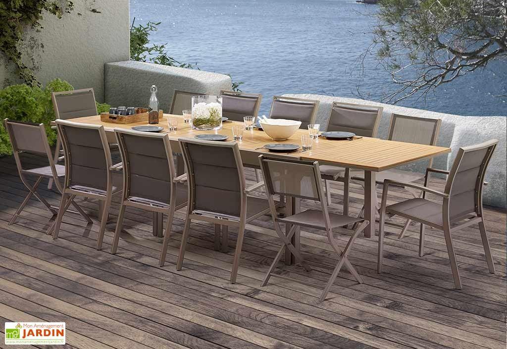 Salon De Jardin Modulo Polywood Table Extensible 8 Fauteuils