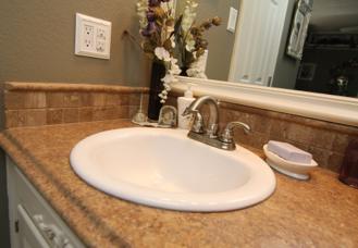 bathroom countertop sidesplash - Google Search