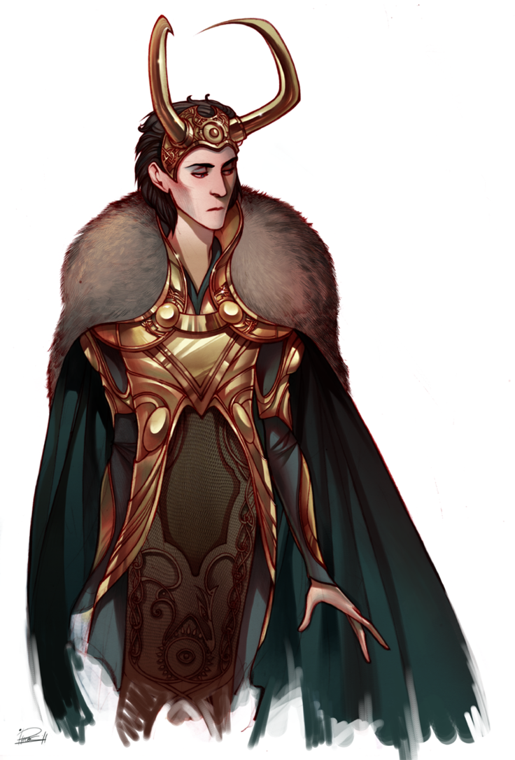 I'm just in love with Loki's character designs (mainly just his head