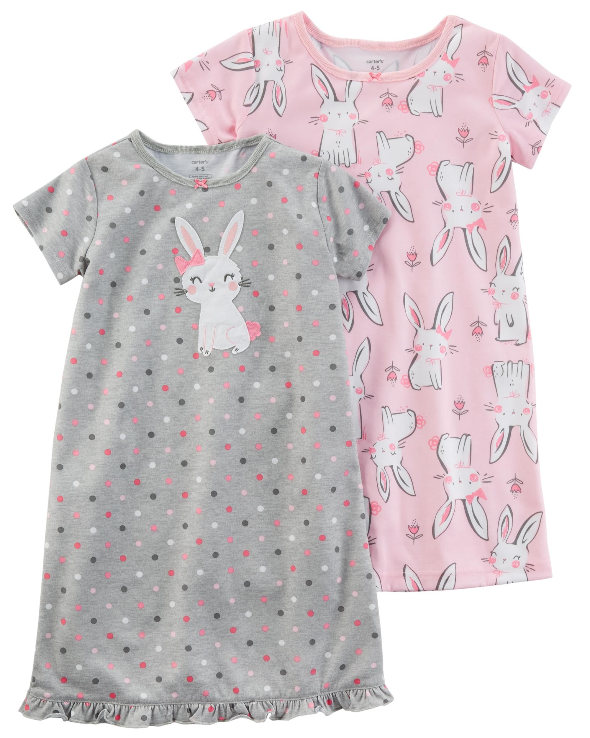 2-Pack Sleep Gowns | Satin bows, Toddler girls and Babies
