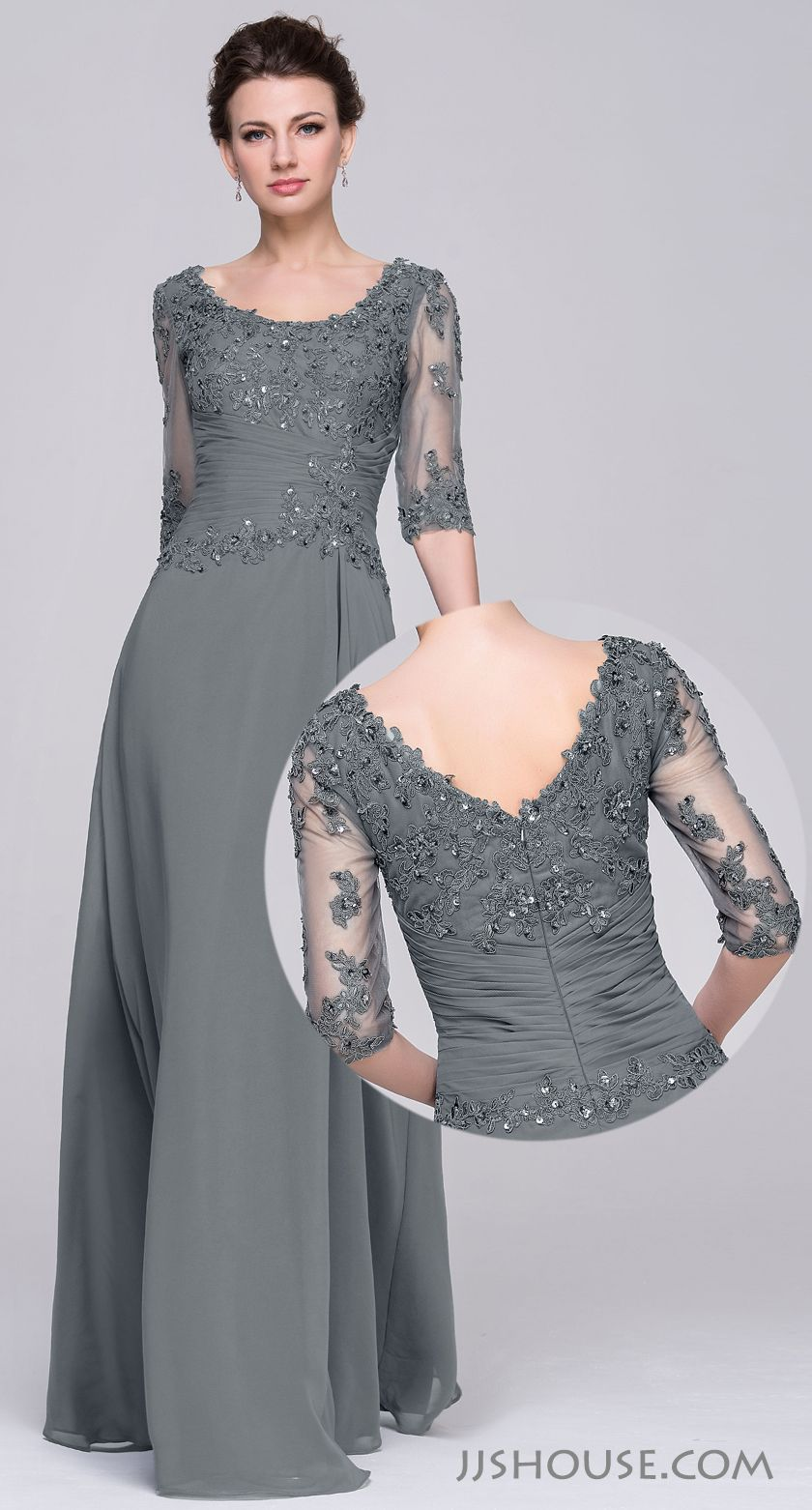 c8d62bf2bc5f Stylish and elegant. Love charcoal color. #jjshouse #motherdress #tulle # charcoal | mother of the bride in 2019 | Dresses, Bridesmaid dresses, ...