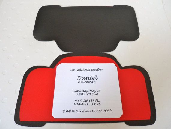 Cars Invitation Card