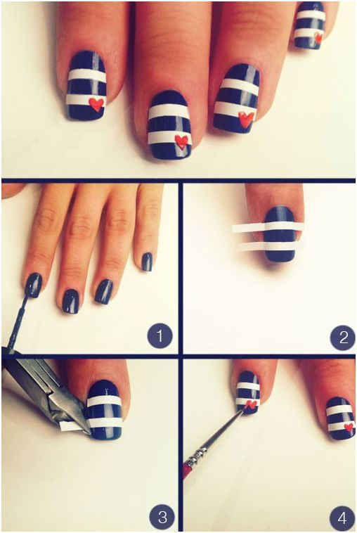 Easy Nail Art Designs Step by Step at Home | Nail Art | Pinterest ...
