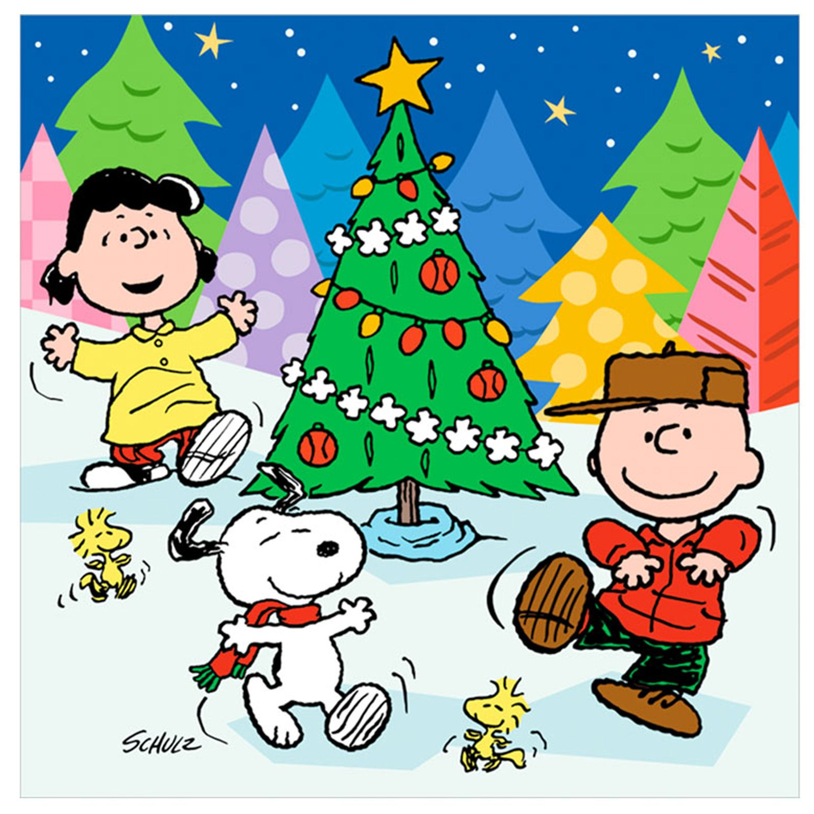 Snoopy outdoor christmas decorations - Snoopy Christmas Clip Art Peanuts Christmas Lunch Napkins Thepartyworks